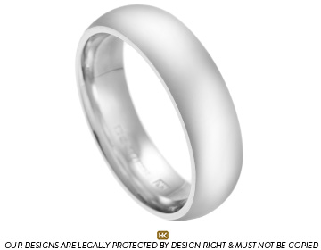 palladium 6mm courting wedding band