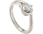 nature inspired fairtrade 18ct white gold and diamond solitaire