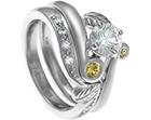 henrietta's bespoke fitted palladium nature inspired wedding ring