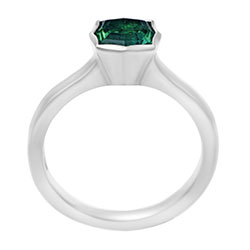 fancy cushion cut 0.94 carat tourmaline engagement ring