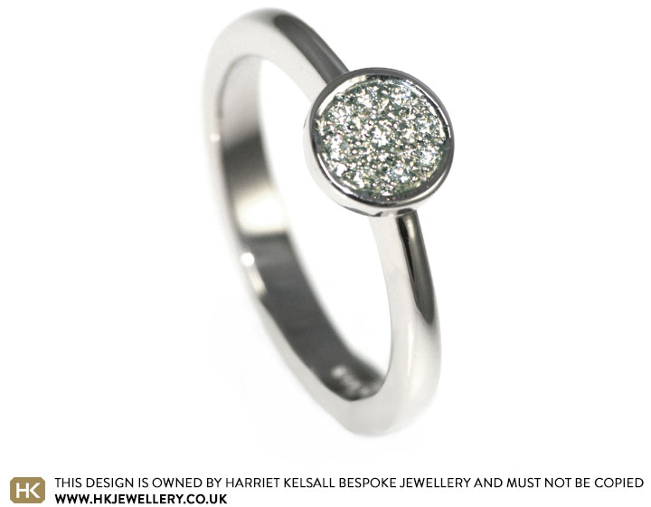 9 carat white gold and 0 09ct diamond engagement ring