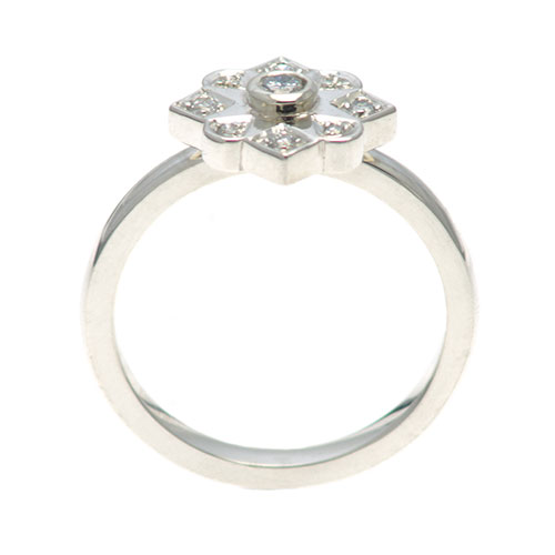 Edwardian Style Recycled Diamond And 9ct White Gold Engagement Ring