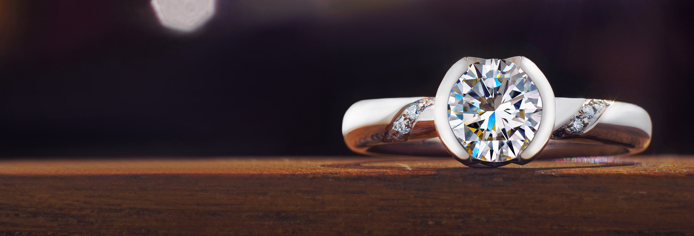 Fairtrade 18ct white gold and recycled diamond engagement ring