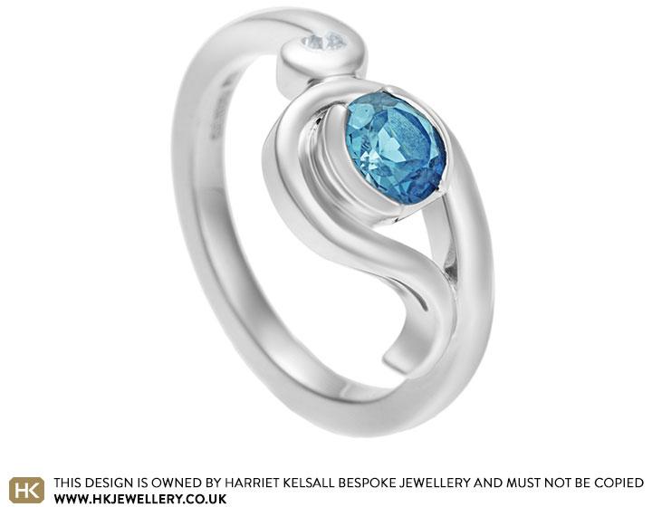 Rhona's London blue topaz and diamond ocean inspired ...