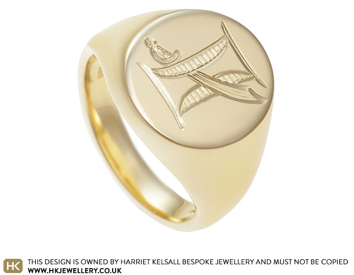 Samanthas Signet Ring Engraved With Personal Symbols