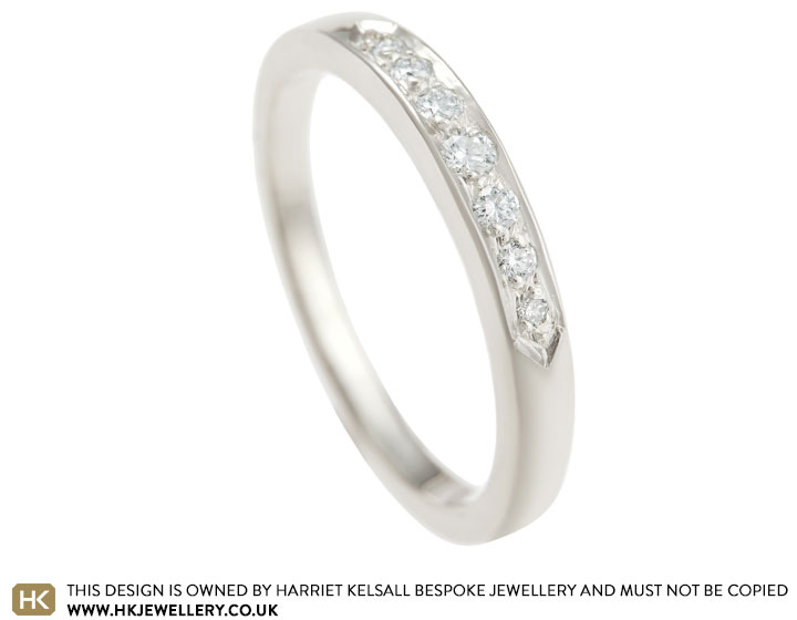 Vintage Inspired White Gold And Diamond Eternity Ring This Classic 9 Carat