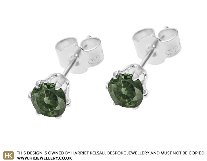 taylor earrings cirque triangle gto tourmaline jane green stud with yg