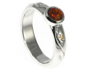 Amber Engagement Rings Harriet Kelsall