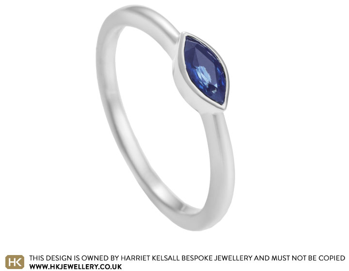 98d559f71 Hannah's bespoke Fairtrade gold and sapphire engagement ring