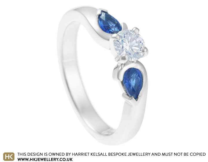 Megan s sapphire and diamond engagement ring
