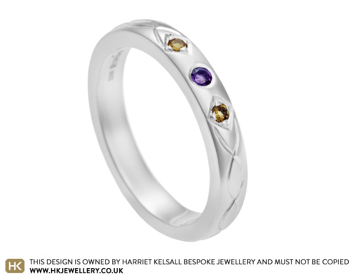 s sterling silver amethyst and citrine engagement ring