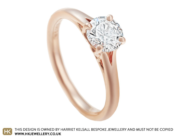 Laura S Fairtrade 9 Carat Rose Gold And 0 69ct Diamond Engagement Ring