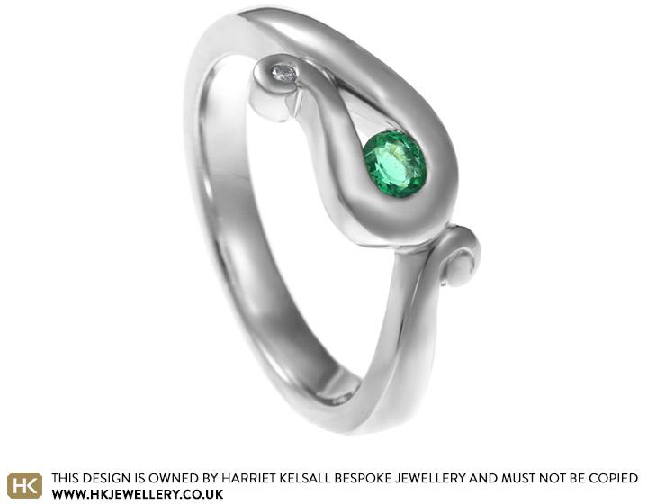 Mels elephant inspired Emerald engagement ring