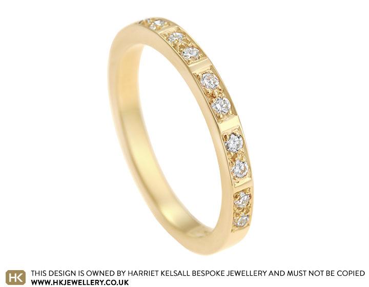80cd4bea1 Jenny's Fairtrade 18 carat yellow gold and diamond memory ring