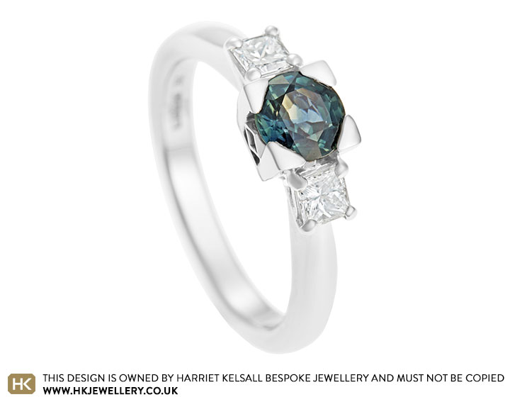 9d60f2d82901a Rachel's sapphire and diamond three stone engagement ring