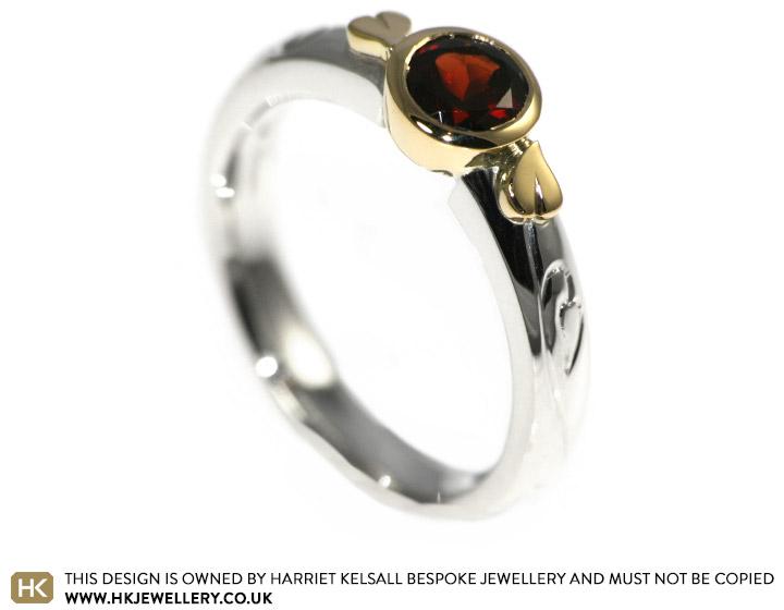 Medieval Wedding Rings | Ann S Medieval Style Garnet Engagement Ring