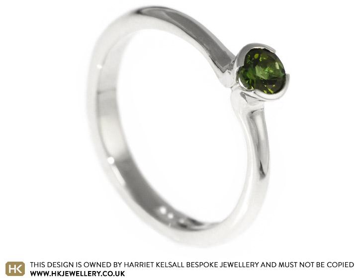 Carolyn S Beautiful Green Tourmaline Ring