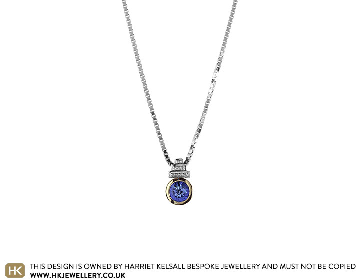 Lynness white gold art deco inspired tanzanite pendant specifications aloadofball Image collections