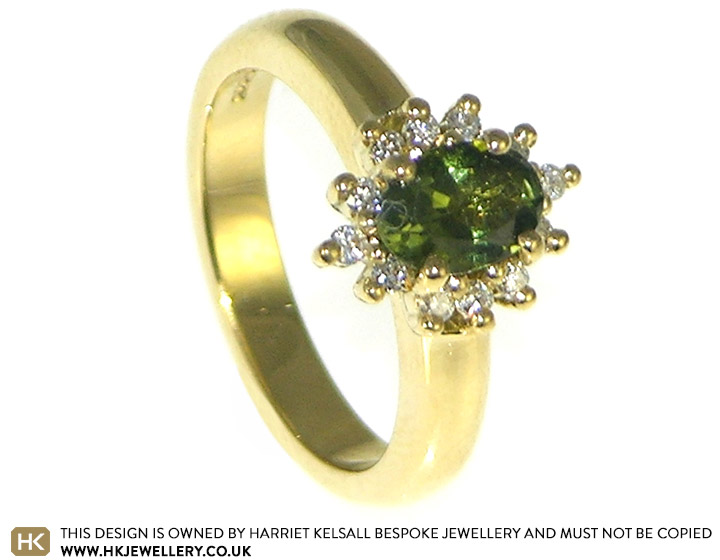 0c4f97c4aeae Racheal and James loved the cluster style engagement rings