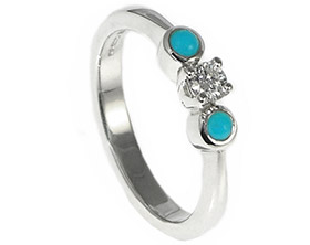 ring gold aquamarine southwest wedding turquoise and rings with store engagement inlay