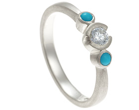 gold engagement harriet turquoise diamond and kelsall claires ring white rings
