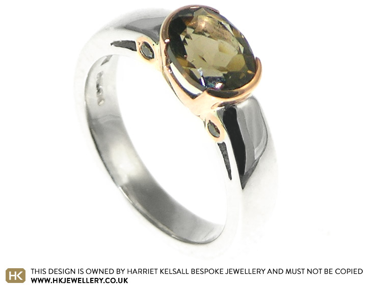 Cognac Diamond Ring For Sale