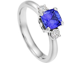white z wedding ring d diamond rings carat wg elqan gold cut product si tanzanite tz in princess with and engagement