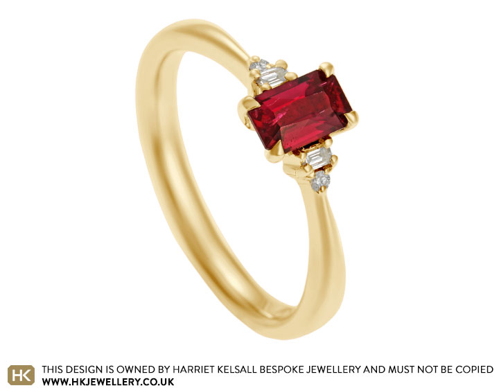cb91c25f578478 Fairtrade 18 carat yellow gold, 0.58ct Ruby and 0.10ct diamond ...
