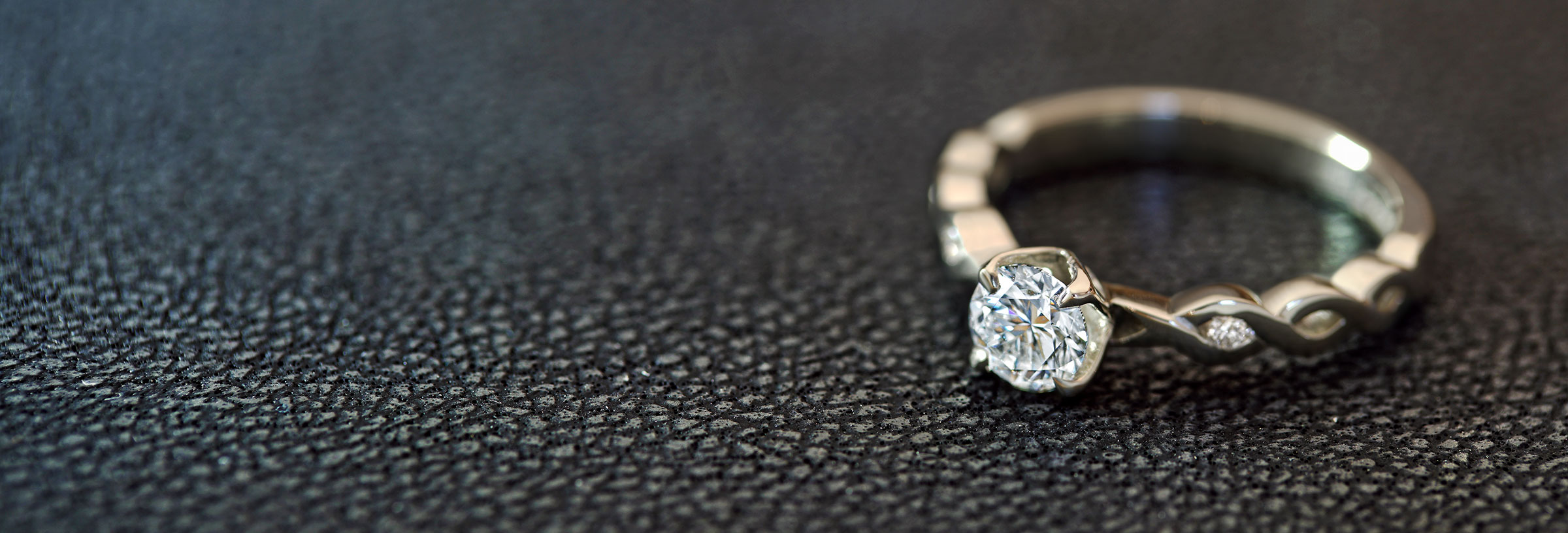 fairtrade 9 carat white gold and 0 52ct engagement