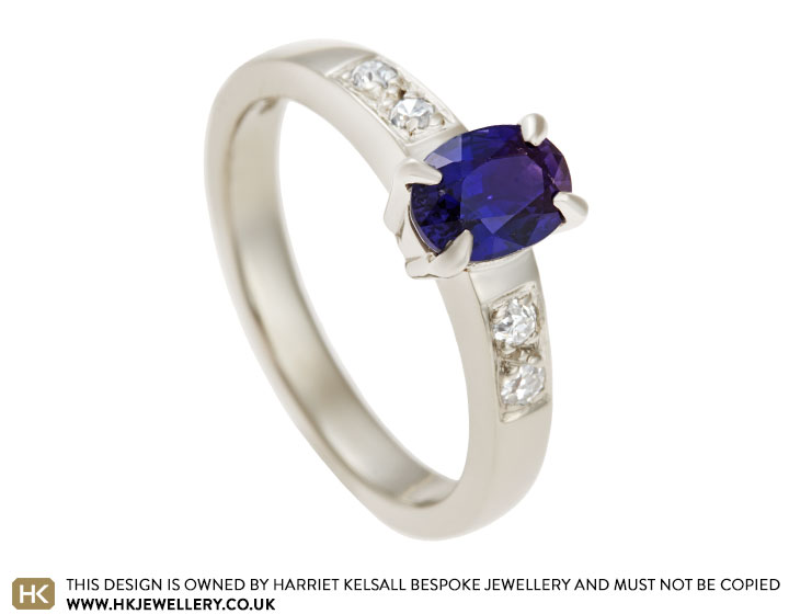 42fd6cdb3 18 carat white gold engagement ring with 1.09ct colour change ...