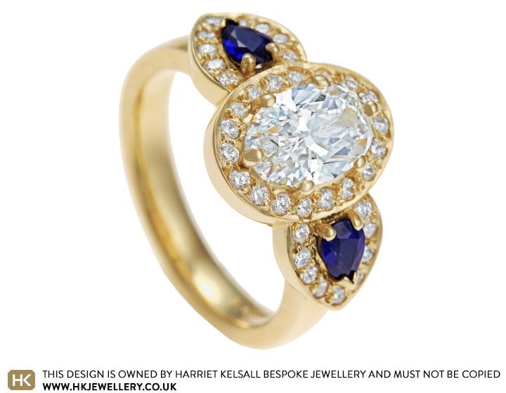 1c550c2a7 Yubing's Fairtrade 18 carat yellow gold diamond and sapphire ...