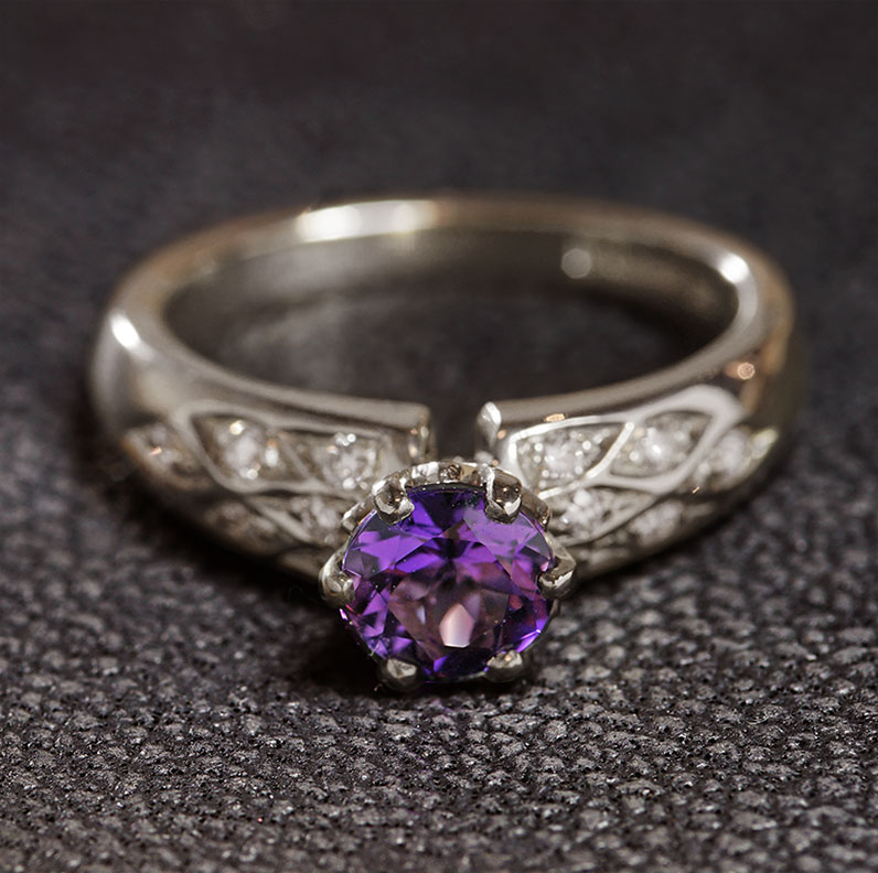 16975-Fairtrade-9-carat-white-gold-amethyst-and-diamond-patterned-ring_9.jpg