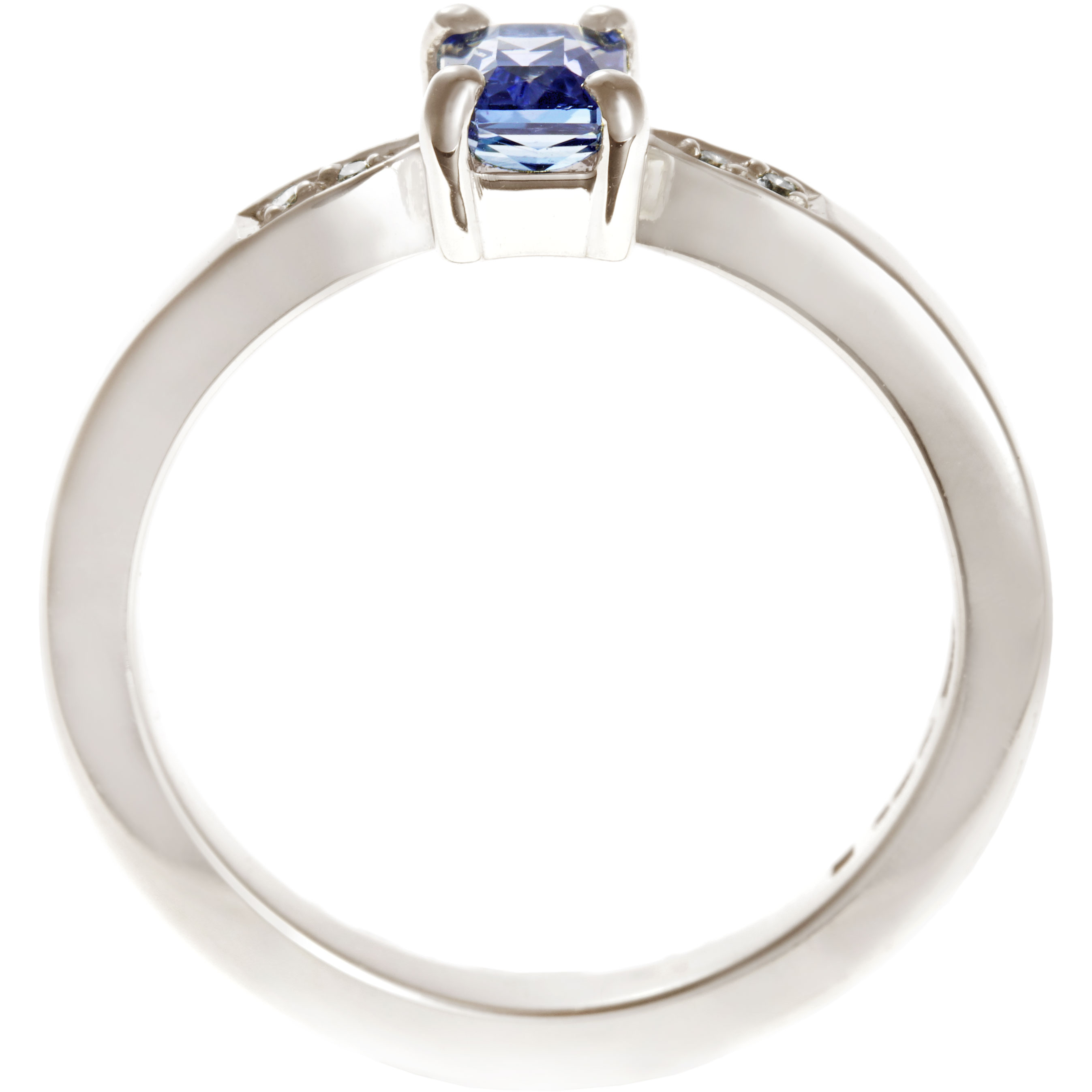 trillion pin sapphire carat over with diamonds total cushioncut cut weight