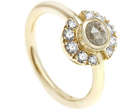 rings brilliant ring gold engagement contemporary earth white modern luna