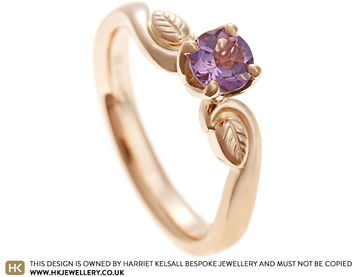 Hannah S Amethyst And Rose Gold Engagement Ring