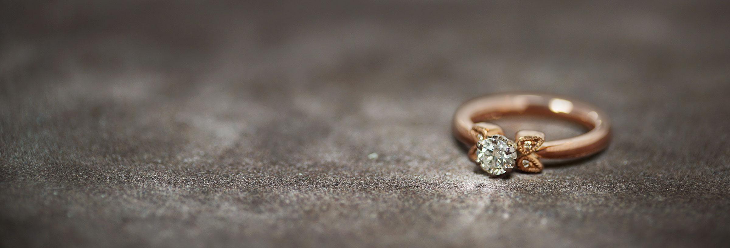 diamond-rose-gold-and-palladium-vintage-leaf-motif-inspired-engagement-ring