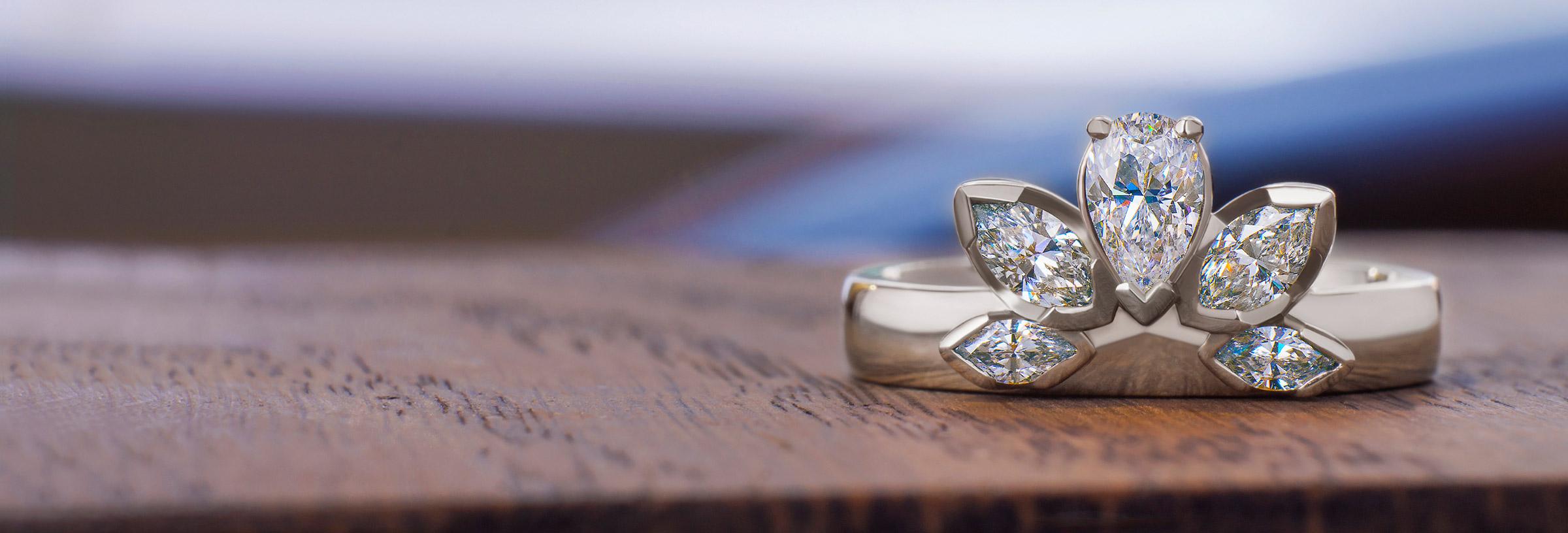 art-deco-inspired-diamond-fan-cluster-engagement-ring