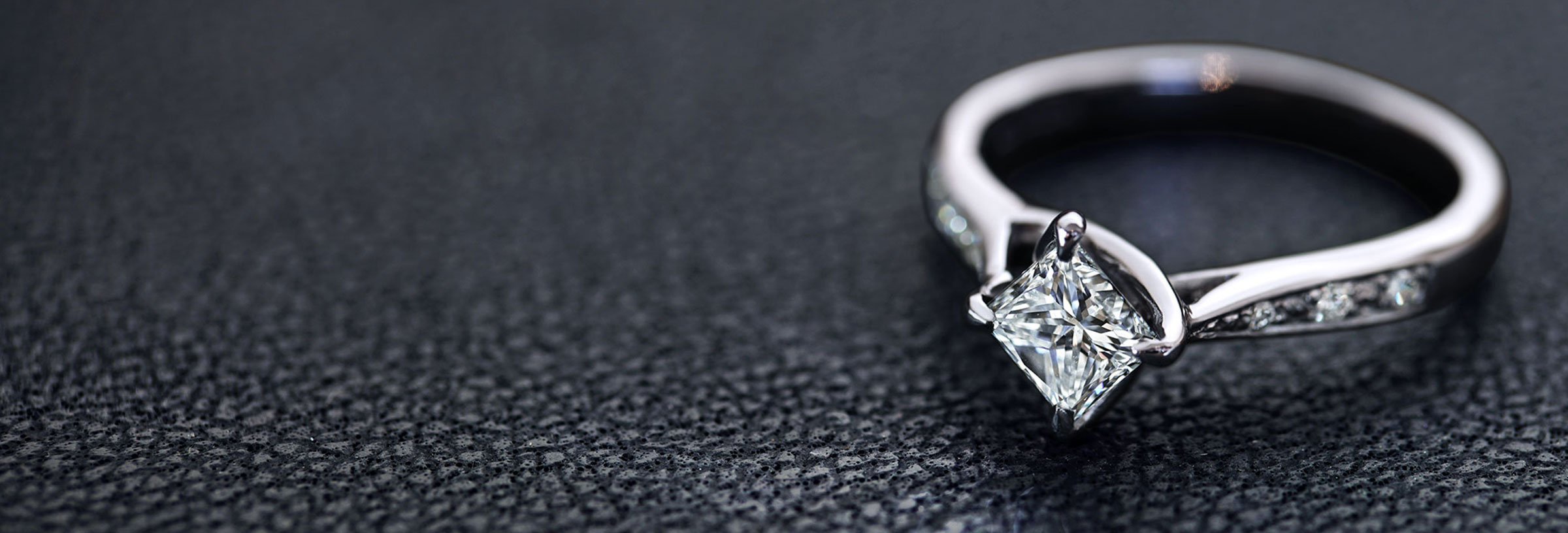 Princess-Cut-Diamond-and-Recycled-Platinum-Engagement-With-a-Twisted-Setting