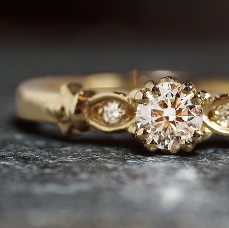 19009-fleur-de-lis-inspired-yellow-gold-and-diamond-engagement-ring_9.jpg