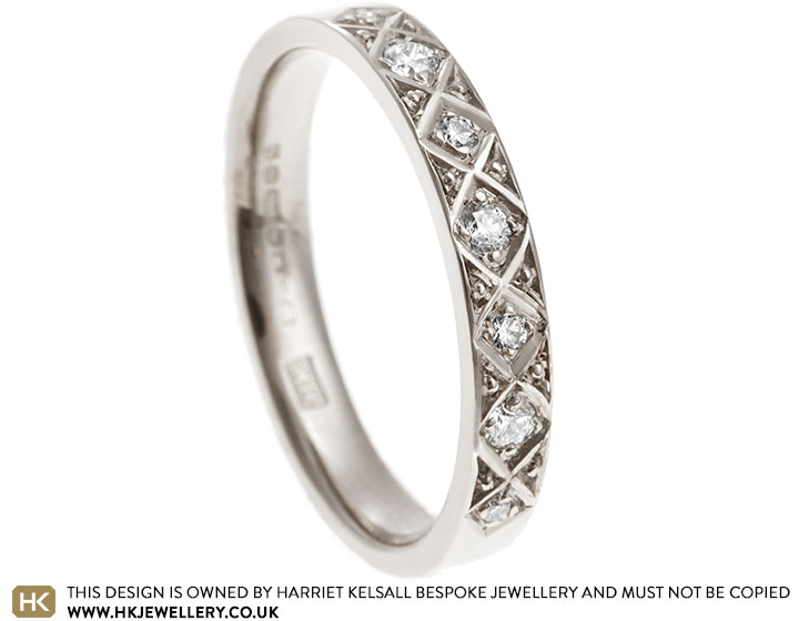 18 Carat White Gold Eternity Ring With 0 16ct Diamond