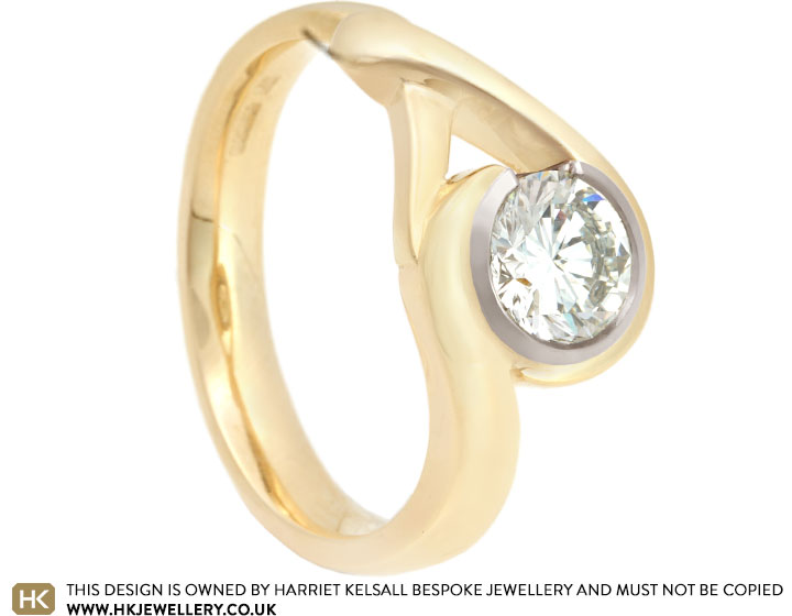 Leonie S 9ct Yellow Gold And 18ct White Gold Diamond Dress Ring