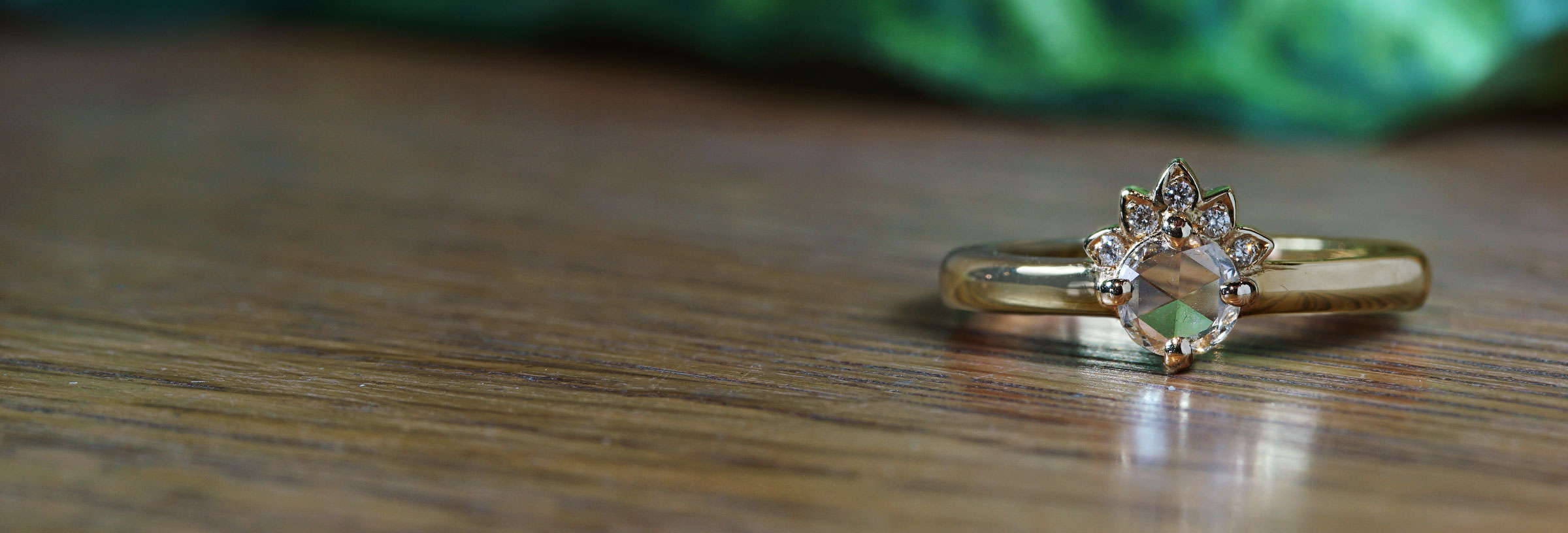 9ct Yellow Gold 0.27ct G//VS Diamond Half Eternity Ring