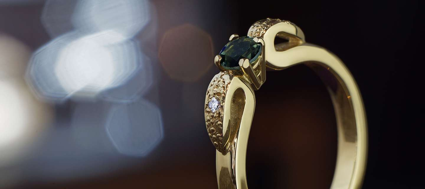 Art Nouveau Inspired Engagement Rings