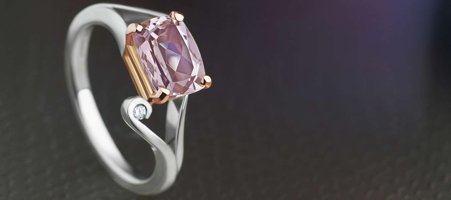 Pink Engagement Rings and Wedding Rings