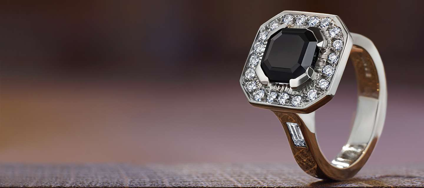 Modern Cluster Engagement Ring