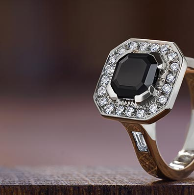 Onyx Engagement Rings