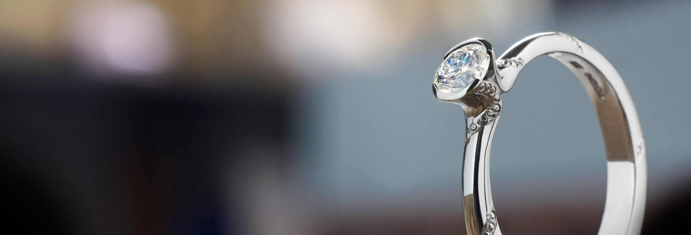 Patterned Engraved Engagement Rings Harriet Kelsall