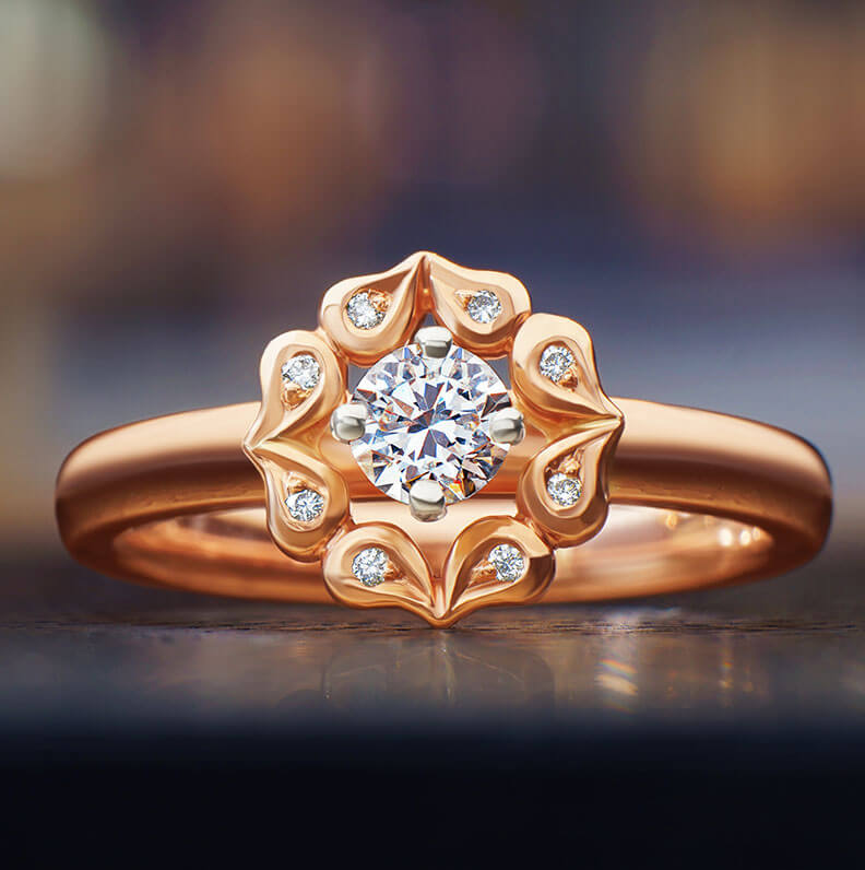 Gallery of Rose Gold Engagement Rings