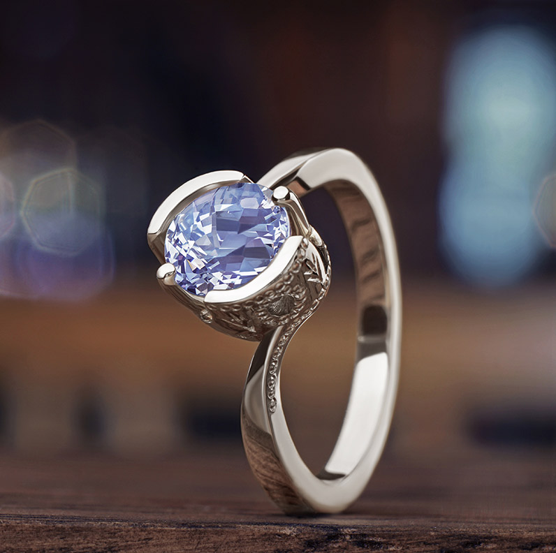 Gallery of Iolite Engagement Rings