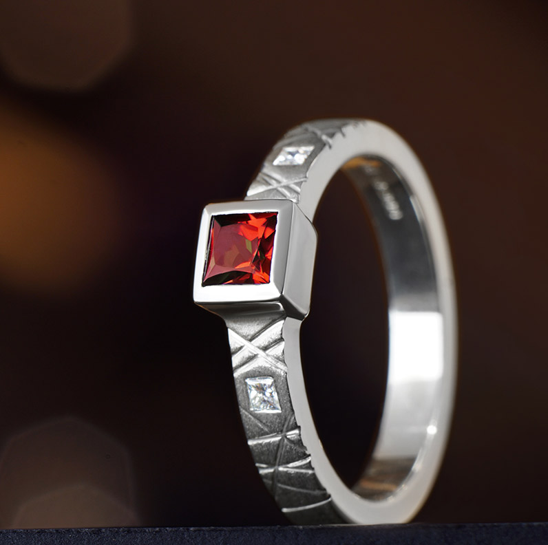 Gallery of Garnet Engagement Rings